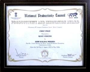 Wave Award Certificate English